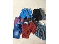 Boys clothes bundle shorts tops coat pyjamas age 6/7/8