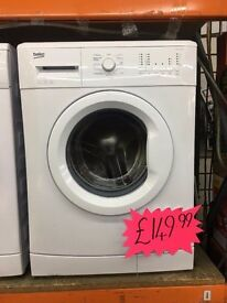 BEKO 6KG A++ 1200 SPIN WASHING MACHINE NEW
