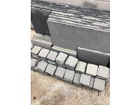 Grey natural stone paving