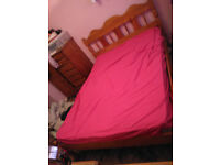 Pine Double Bed with Mattress - FREE - If interested must take both and must collect