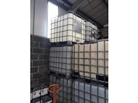 IBC STORAGE CONTAINER TANK 1000lt WATER OIL