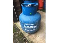 Calor 4.5kg around over half full save on calor bottle surcharge £20