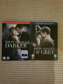 Fifty Shades of Grey and Fifty Shades Darker DVD'S