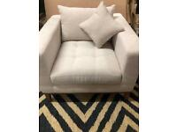 Armchair Fabric - Dwell - Off-white | RRP £349