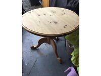 Solid Wood Circular Wood Table