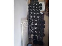 183kg Cast Iron Weights Set inc. Barbell, Dumbbells, EZ & Hammer Bar (dumbell, bench, press, gym)