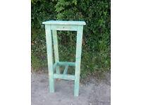 Wooden shabby chic bar stool.