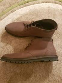 Brown lacoste mens boots size 10
