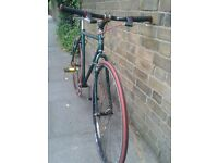 Green and Red Single Speed. 80s Frame