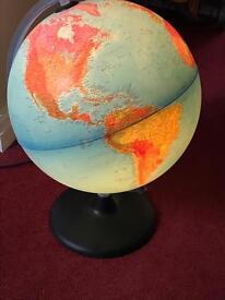 Light globe of the world