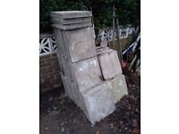 60 patio paving stones grey 18x18 £1.50 each poss delivery