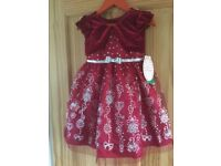 Beautiful new girls Christmas or party dress age 4