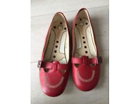 Women's red leather kickers size 6.5/40