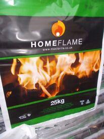 Homeflame Open Fire / Multifuel Burner Coal 10 x 25kg Bags