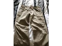 Mns Docker trousers with patch side pockets