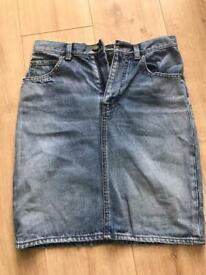 Vintage Saint Laurent Denim Skirt