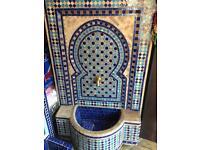 Mosaic handmade fountain