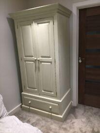 Wardrobe- cream painted pine, shabby chic style