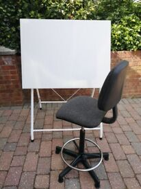 Sketching table and swivel chair