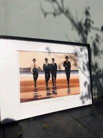 Jack Vettriano print in black Ikea frame
