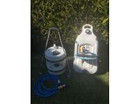 Caravan waste & water hog & groundsheet. Can be sold separately