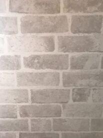 Next Natural Brick wallpaper x 3 Rolls