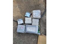 Weatherproof outdoor sockets and switches