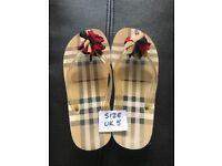Burberry designer flip flop sandals