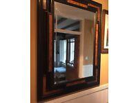 Beautiful large oriental style mirror