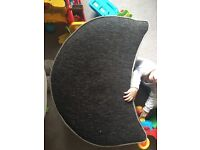 Black and grey puffet/foot stool