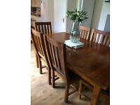 John Lewis dining table with 6 chairs
