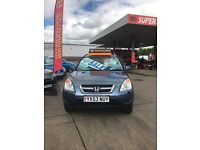 HONDA CRV 2.0 MANUAL PETROL COMES WITH FULL MOT AND 3 MONTHS WARRENTY