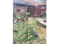 Fish Weighing Stand with Case (Never Used)