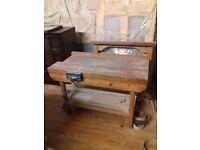 Vintage rustic work bench (READ DESCRIPTION)
