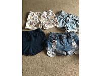 Girls shorts x4 pairs