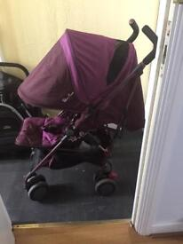 Silver cross pop stroller aubergine
