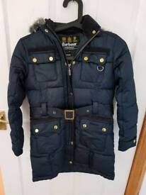 Navy Girl's Barbour coat