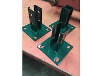Detachable Base plates for fencing posts