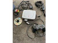 PSOne Slim PS1 with controller, leads and Toca Touring Car Championship Game