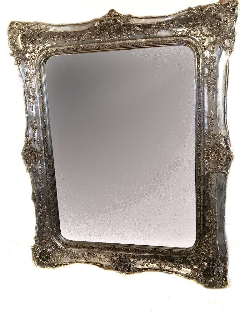 Antique Style Double Framed Floor Standing Mirror