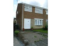 Hartlepool 3 bed semi-det house, gardens, garage, new kitchen/carpets/decor, reduced from £125,000