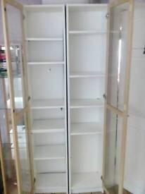 Two display shelf units