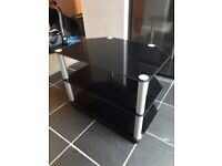 Glass TV Stand - Black