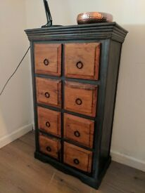 Rustic industrial boho chest of drawers. Apothecary style/shabby chic. Local delivery