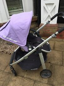 Uppababy Cruz 2016 With Carry Cot Rain Cover Net And Cup Holder Single Stroller