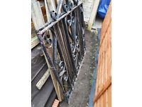 Driveway Metal Gates + Posts