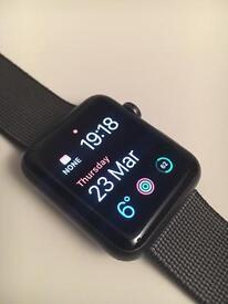 Apple Watch 42mm black woven strap