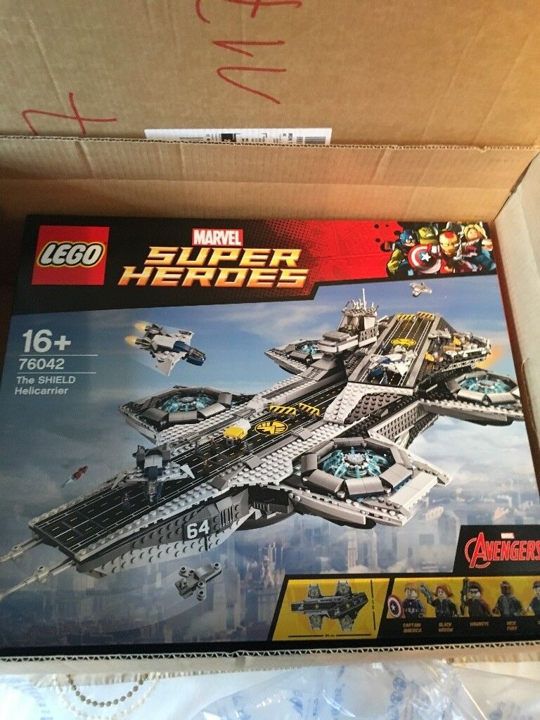 LEGO 76042 The SHIELD Helicarrier, Marvel Super Heroes, Brand New Factory Sealed