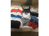 Men's clothes bundle 21 items size M-L £10 for the lot.