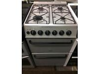 Silver Parkinson Cowan 50cm gas cooker grill & oven good condition with guarantee